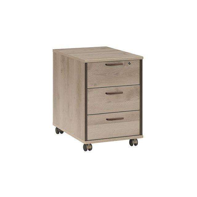Caisson pour bureau 3 tiroirs naturel - Rafael