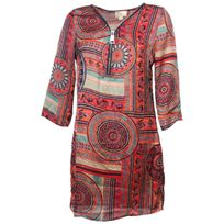 Culture Sud - Robe Calicoba robe print rouge Rouge 75677