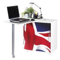 - Meuble informatique london blanc