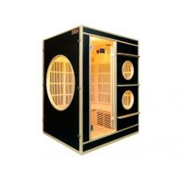 Vogue Sauna - Sauna Infrarouge 3/4 places Nivala - L150 P130 H190 cm - Noir