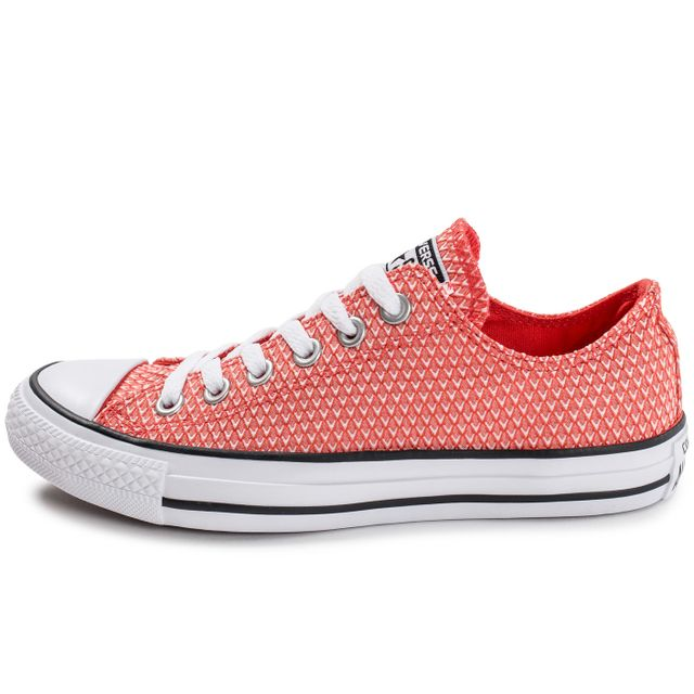 newest 6c022 ee262 ... chaussures converse chuck taylor all star snake woven ox rouge vue  exterieure