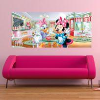 Poster géant Minnie & Daisy au salon de thé Disney 202X90 Cm
