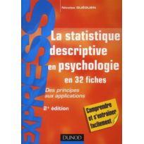 Dunod - la statistique descriptive en psychologie ; des principes aux applications 2e édition