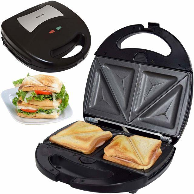 Syntrox Germany Machine à sandwich avec plaques de cuisson interchangeables Sm-1300W