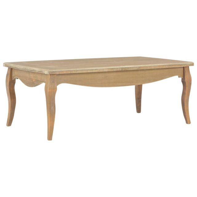 Vidaxl Bois de Pin Massif Table Basse Table d'Appoint Bout de Canapé Salon
