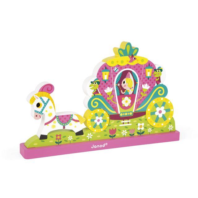 JANOD Puzzle 9 pièces vertical magnétique : Princesse