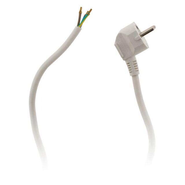 Zenitech Cordon d/'alimentation avec prise 16A 3G1,5 2m Noir