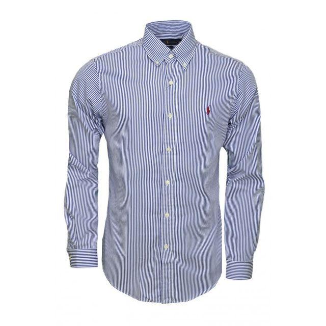 Ralph Lauren - Chemise rayée bleu et blanche pour homme XXL - pas ... 685dc72aebfb