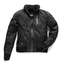 Blauer - blouson moto textile Indirect homme coton huilé imperméable hiver été noir 2XL
