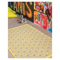 PAPILIO - Tapis KILIM SKULL Tapis Enfants par jaune 120 x 170 cm