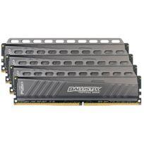 BALLISTIX - Kits mémoire DDR4 Tactical 16 Go 4 x 4 Go, DDR4-2666 MHz - CAS 16