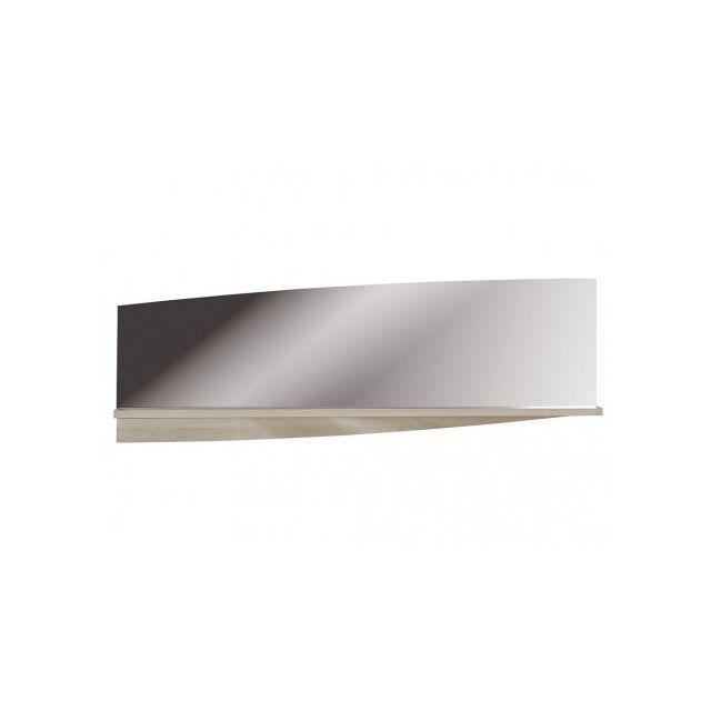 marque generique miroir mural rectangulaire elypse l159xh54 cm 1 tablette ch ne blanchi. Black Bedroom Furniture Sets. Home Design Ideas