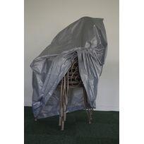 Titanium - Housse Pile De Six Chaises Argent