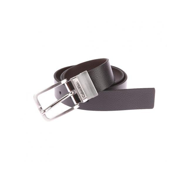 56ca7289d048 Calvin Klein - Ceinture Mino Jeans ajustable et réversible en cuir noir et  marron - pas cher Achat   Vente Ceinture homme - RueDuCommerce