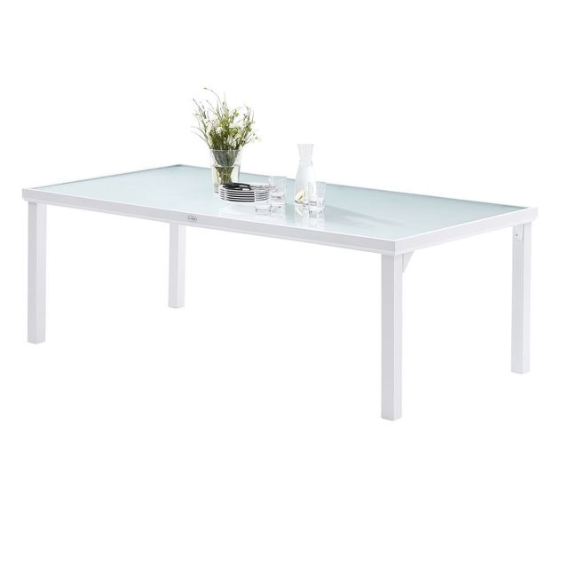 Wilsa Table WhiteSun Verre Blanc T8 Tables & Ensembles Whitesun