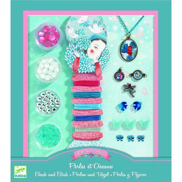Djeco Perles Au bonheur des filles : Oh! les perles Perles et oiseaux