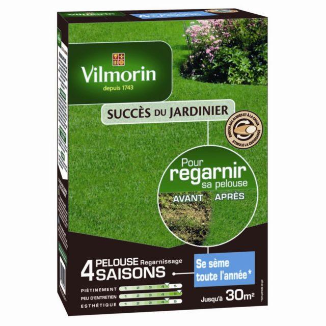 Pelouse regarnissage Vilmorin 4 saisons 1kg 30m2