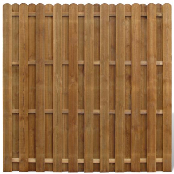 Vidaxl - Panneau de clôture en bois avec planches intercalées