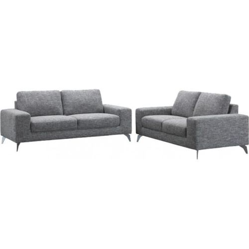 declikdeco canap 3 places gris en tissu agenor achat. Black Bedroom Furniture Sets. Home Design Ideas