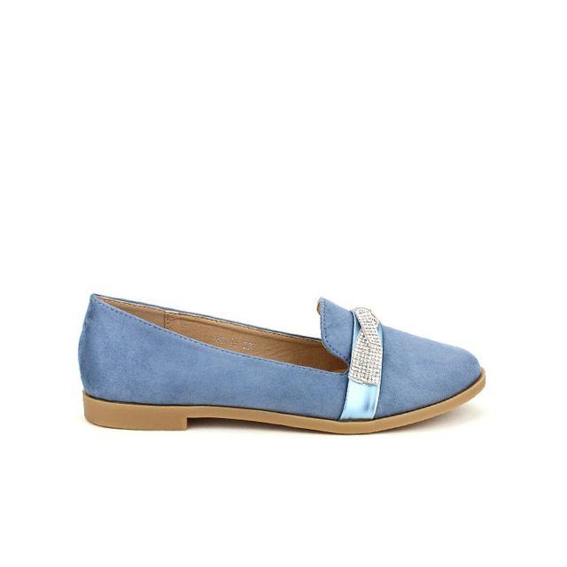 e07ba8c68db6 Cendriyon - Derbies simili bleue Sixth Sens Strass - pas cher Achat   Vente  Ballerines - RueDuCommerce
