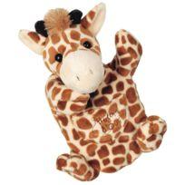 Histoire D'OURS - Marionnette peluche Girafe 25 cm