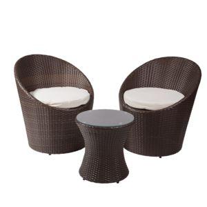 Rotin Design - Salon Tampa - Jardin - couleur Brun foncé/chocolat et ...