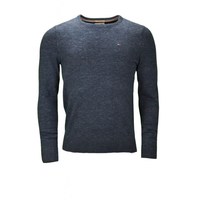 Pull col rond Tommy Hiliger Ethan bleu marine pour homme