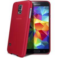 Caseink - Coque Housse Translucide Ultra Fine 0.3mm Pour Samsung Galaxy S5 Fuchsia