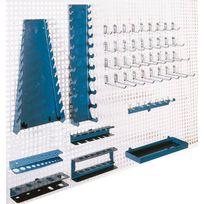 Heco - Set de crochets et suspensions pour panneaux muraux perforés He145151BL