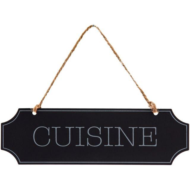 Promobo   Plaque De Porte Panneau Cuisine Rétro Vintage Accroche En Lin