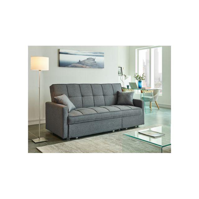 convertible 3 places pack std nicaragua2 tissu artemis gris vendu par but 1179529. Black Bedroom Furniture Sets. Home Design Ideas
