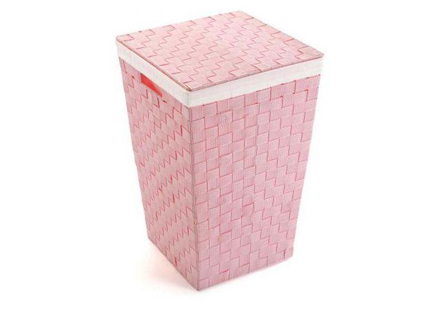 e3b5bb7e337c Declikdeco - De par sa taille, ce Panier à linge rose Borja est très  pratique. Un tel produit est indispensable pour équiper une salle de bain.