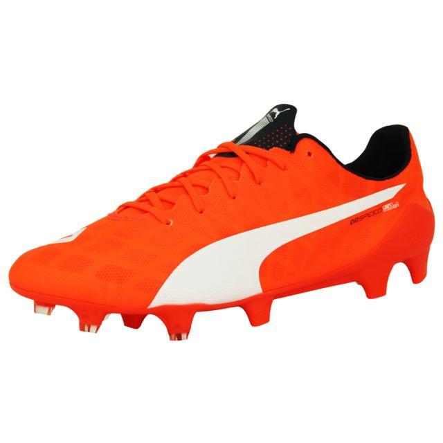 998cc2b17ecd Puma - Evospeed Sl Fg Chaussures de Football Homme Orange Blanc Speedtrack  - pas cher Achat   Vente Chaussures foot - RueDuCommerce