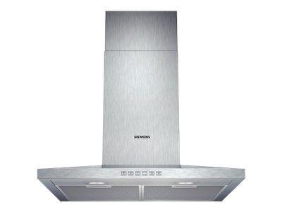 hotte décorative 60cm évacuation/recyclage 58db 680m3/h inox - lc67wa532