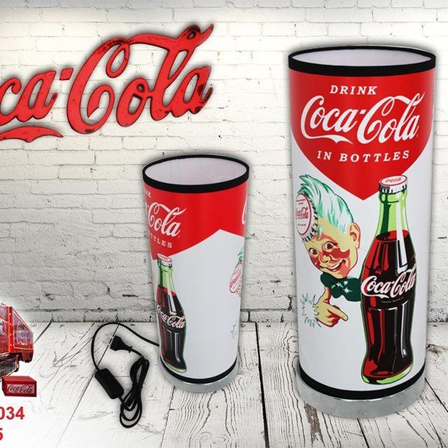 STC Lampe à poser Coca-Cola motif bouteille vintage