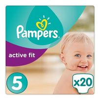 Pampers - active fit taille 5 - 11 à 23 kg - 20 couches