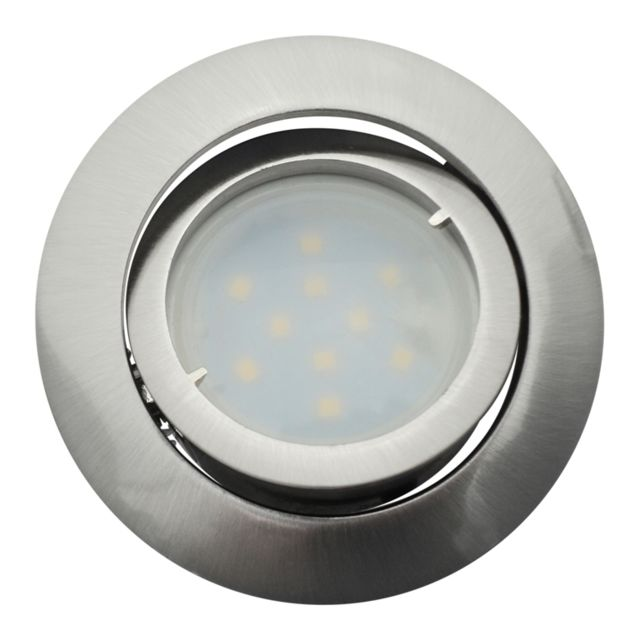 Eurobryte Lot de 30 Spot Led Encastrable Complete Satin Orientable lumière Blanc Chaud eq. 50W ref.209