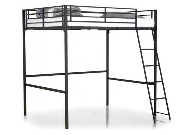 declikdeco lit mezzanine noir 140x190 khan 190cm x 200cm pas cher achat vente ensembles de. Black Bedroom Furniture Sets. Home Design Ideas