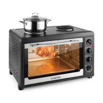 Klarstein - Masterchef 60 Mini four 60L 2500W + 2 plaques de cuisson 1600W - noir
