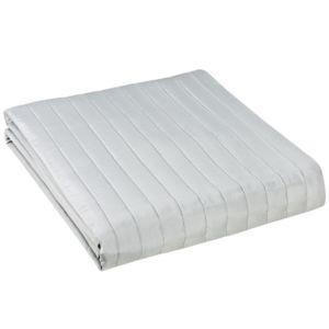alin a lulli couvre lit surpiqu gris 240x260cm pas cher achat vente couvertures et plaids. Black Bedroom Furniture Sets. Home Design Ideas