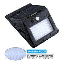 Alpexe - 16 Led 320 Lumens Lampe Solaire Extérieure avec Capteur Intelligent et Détecteurs de Mouvement Automatique pour Jardin, Escaliers, Chemins, Terrasse, Patio, etc