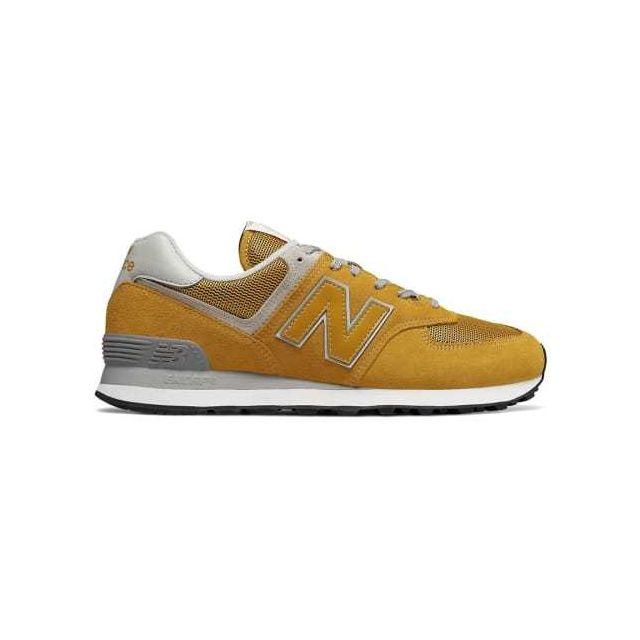 4fd7b3b0b4e0 New Balance - Chaussures Ml 574 jaune - pas cher Achat / Vente Chaussures  fitness - RueDuCommerce