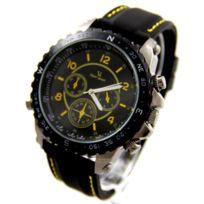 V6 Montre Homme - Montre Homme Bracelet Silicone Noir V6 2685