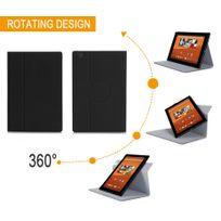 Xeptio - Sony Xperia Z4 Tablet - Housse protection UltimKaz Cuir Style noire - Etui coque