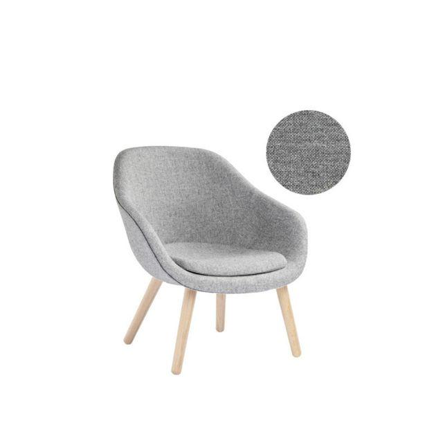 Hay About A Lounge Chair Low Aal 82 - Remix 133 - gris - chêne savonné