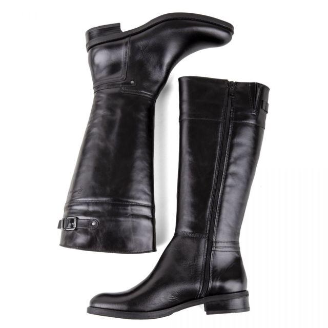 Dorking Bottes en cuir noir femme D7687 SI 37 pas cher