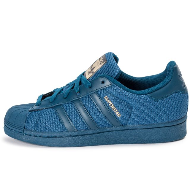 Adidas originals - Superstar Nylon Junior Bleu Marine 38 2/3 - pas cher Achat / Vente Baskets enfant - RueDuCommerce