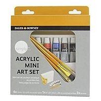 Daler Rowney - 126500900 - Kit De Loisirs CrÉATIFS - Mini-ensemble De Couleurs Acryliques Simply