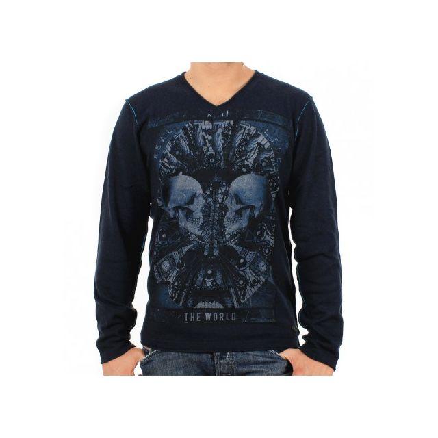223edc470610 Japan-rags - Pull Bleu - pas cher Achat   Vente Pull homme - RueDuCommerce