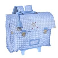 CARREFOUR - Cartable à roulettes bleu ciel - 1 Compartiment - L 39cm